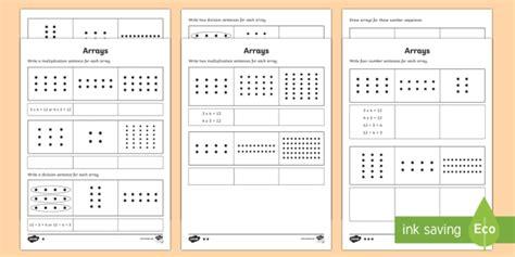 year 2 maths arrays homework worksheet activity sheet year
