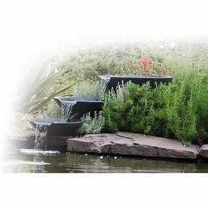 Bulleur Pour Bassin : cascade nova scotia pour bassin de jardin achat vente ~ Premium-room.com Idées de Décoration
