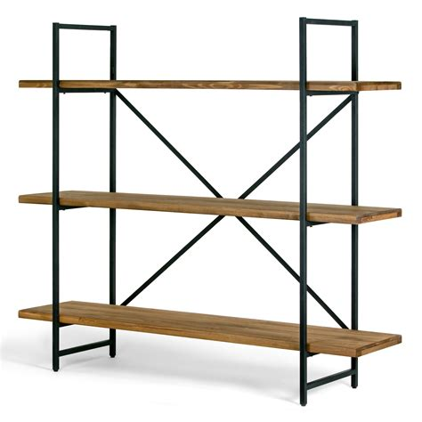 Etagere Shelf by Ailis 56 Quot Brown Pine Wood Metal Frame Etagere Three Wide