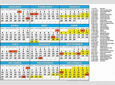 Get A4 Yearly Printable Calendar 2019 With Chinese