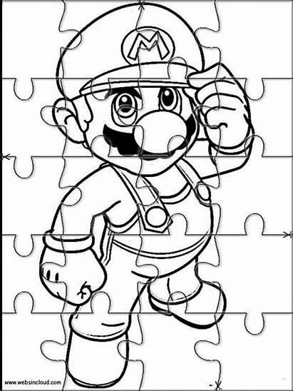 Puzzles Printable Mario Bros Cut Jigsaw Puzzle