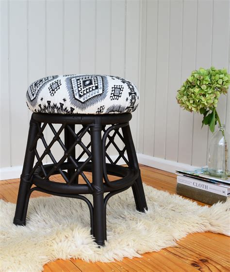 diy how to reupholster a stool the easy way