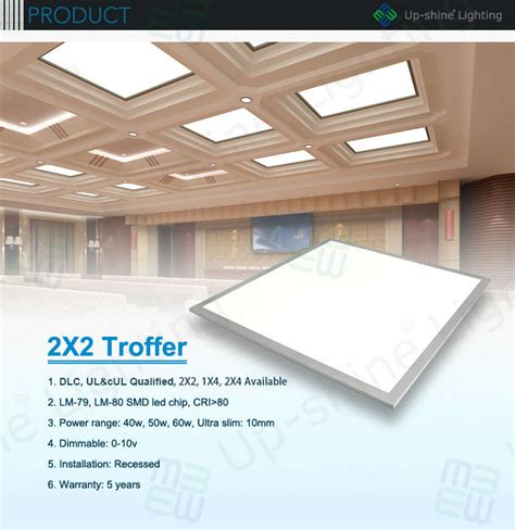 2x2 drop ceiling light panels ul dlc approved 50w 0 10v dimming recessed 2x2 led drop