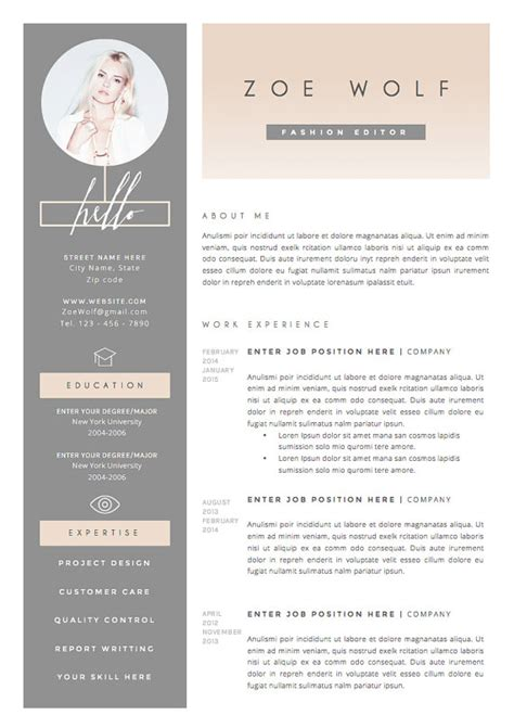 Creative Market Cv Resume by 8 Cv Templates That Will Get You The Career Daily