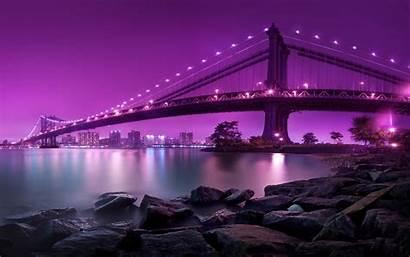 Purple Desktop Background Backgrounds Bridge Wallpapers Windows