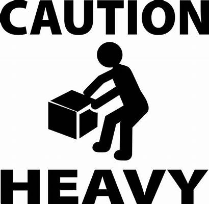 Caution Heavy Stencil