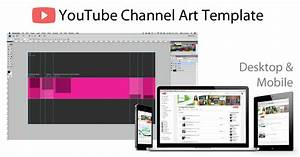 YouTube Channel Art Photoshop Template - Image Size 2560 X ...