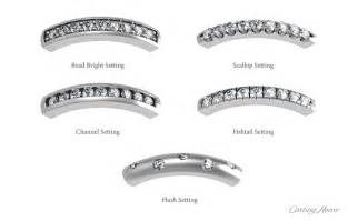 different types of wedding bands diamonds settings rings and band types house