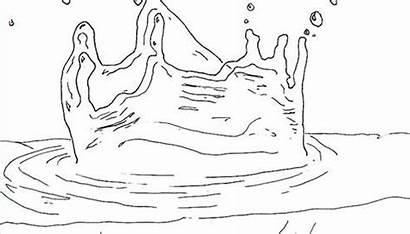 Water Splashing Draw Pencil Pen Ink Appear