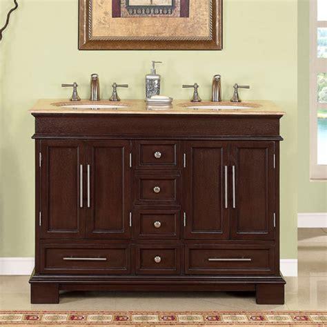 double sink bathroom vanity  dark walnut uvsr
