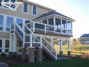 Elevated Deck and Screened in Porch
