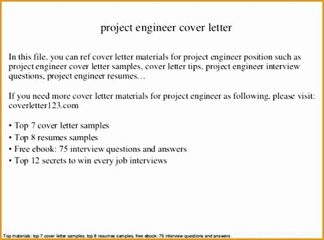 Engineering Cover Letter Sample - Costumepartyrun