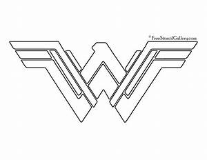 Wonder Woman Symbol 02 Stencil | Free Stencil Gallery