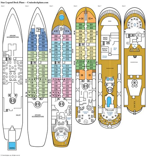 carnival legend deck plan 7 legend deck plans diagrams pictures