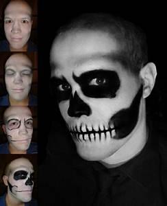 Karneval Gesicht Schminken : geist skelett halloween fasching gesicht pinterest halloween fasching und schminke ~ Frokenaadalensverden.com Haus und Dekorationen
