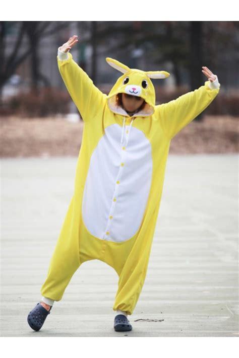 yellow rabbit onesie animal costumes kigurumicom