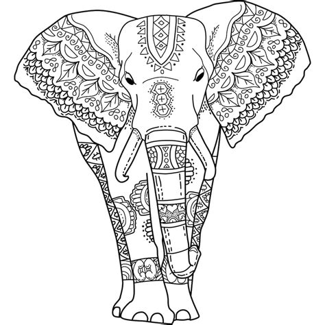 this is quot mystical elephant quot a coloring page for you to