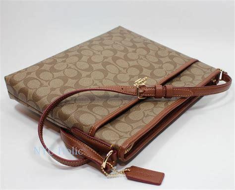 coach  signature file bag crossbody handbag