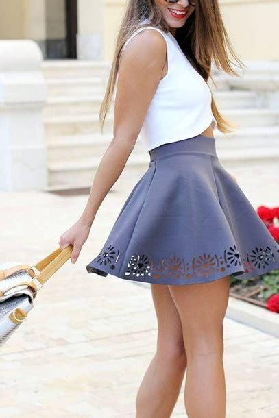 skirt crop dress grey skirts legs shorts skater cut outfit celebrity summer tops blouse gray swing umbrella sun nice shirt