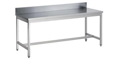 pied inox cuisine table démontable pieds carrés adossée inox ferritique