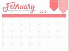 Cute October Calendar 2019 Printable Calendar Template