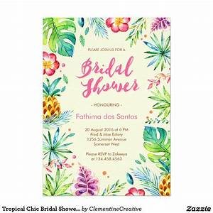 tropical chic bridal shower invitation throw a fun summer With wedding shower invitations hawaiian theme