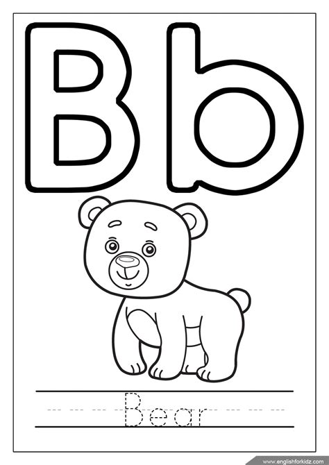 Coloring Letter B by Printable Alphabet Coloring Pages Letters Influenza A