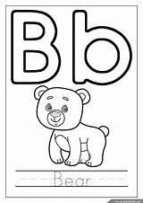 Coloring Letter Alphabet Printable Letters Worksheets Bear Worksheet Tracing Kindergarten Sheets Grade Reading Influenza Englishforkidz Subtype Virus Abc Bee November sketch template