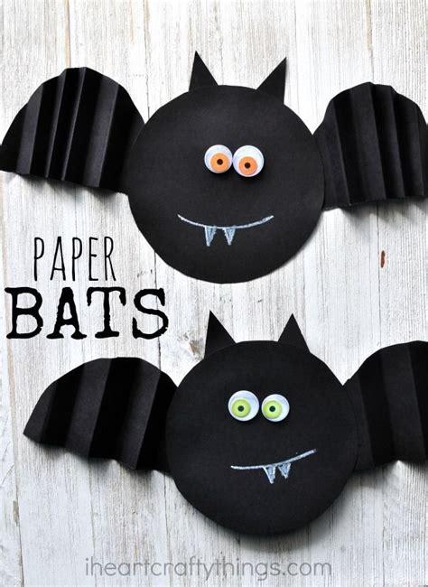Simple Accordion Fold Paper Bat Craft  Halloween Ideas