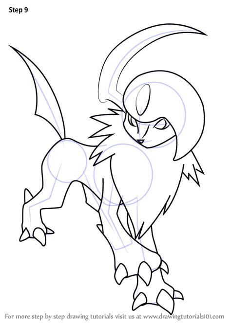 learn   draw absol  pokemon pokemon step