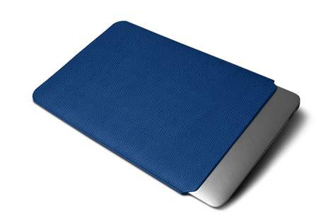 housse de protection pour macbook air 13 housse macbook air 13 pouces bleu roi cuir grain 233