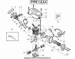 Poulan 2075 Gas Saw Type 2 Parts Diagram For Engine Assembly Type 1  2  3  4