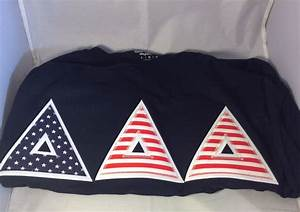 shirt inspiration sorority double stitched letter shirt With tri delta stitched letters