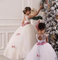 robe mariage fillette détails sur 2 14 robes de fille robe enfant robe filles fleurs mariage blanc ivoire tzh38 g