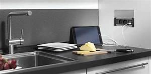 Prise Dans Plan De Travail : prises encastrer de plan de travail ~ Premium-room.com Idées de Décoration