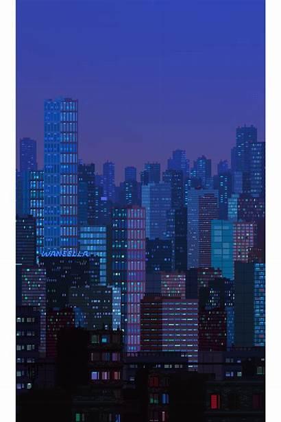 Pixel Aesthetic Waneella Cities Bit Alk3r Wordpress