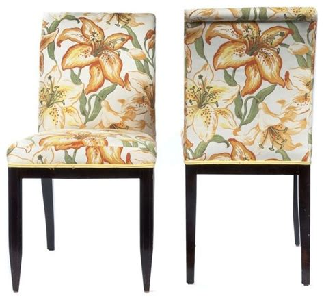 floral upholstered dining chairs pair 1 100 est