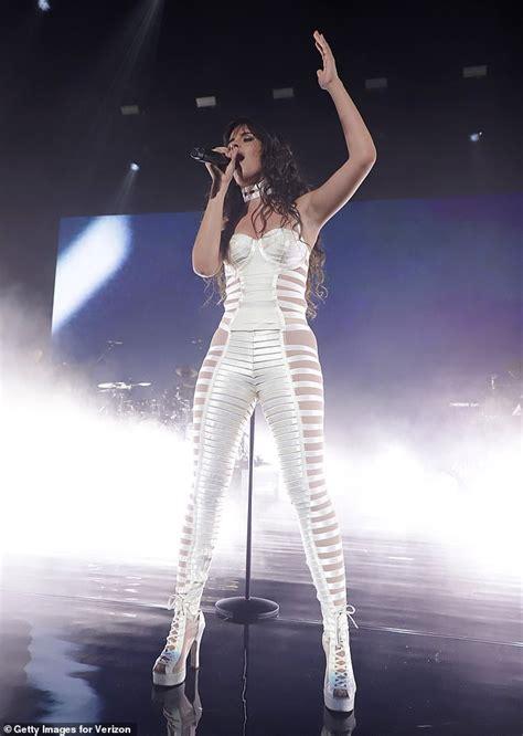 Camila Cabello Flaunts Her Figure White Lace