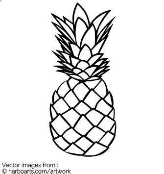 pineapple outline vector pineapple vector graphic