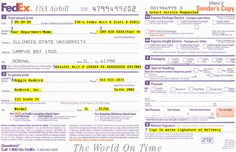 federal express phone number fedex airbill