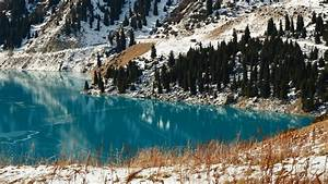 Late winter by the clear turquoise lake wallpaper - Nature ...
