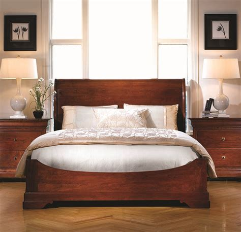 stickley bedroom furniture stickley furniture la rochelle sleigh bed crafted of 13393 | 6191d120d28f97e243d3776e7e5d0bfc