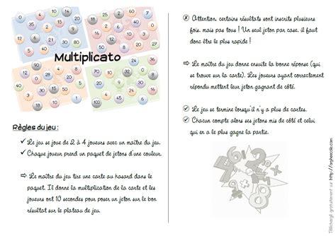 table multiplication jeux imprimer