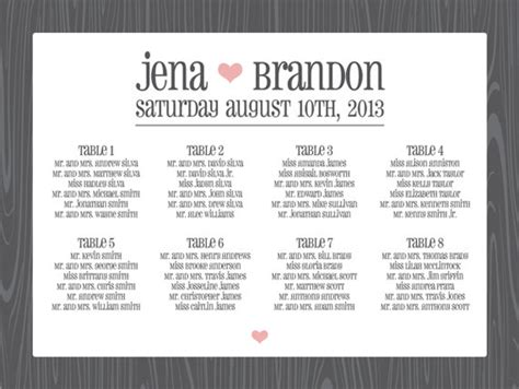 wedding seating chart poster template up seating chart posters something turquoise daily bridal inspiration