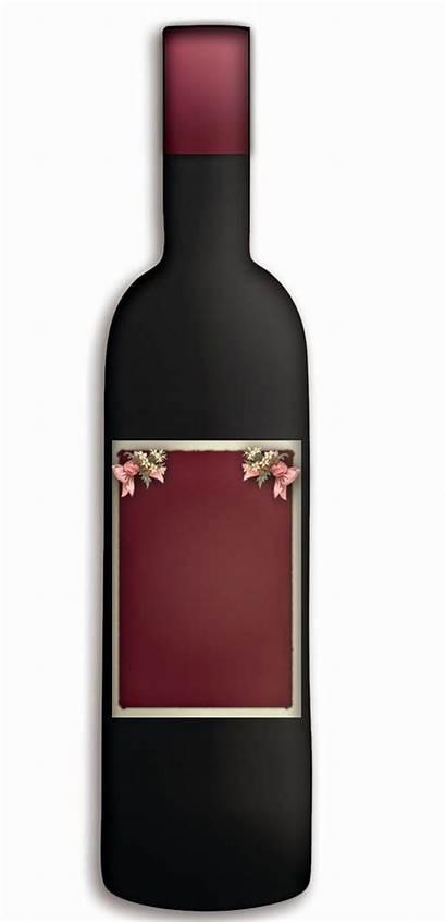 Wine Bottle Blank Graphics Labels Burgundy Customizable