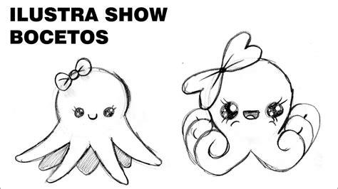 como dibujar pulpos kawaii tutorial ilustra show youtube