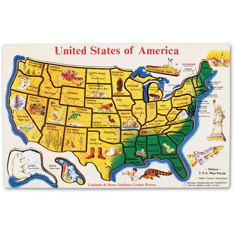 melissa doug usa map wooden puzzle  pcs walmartcom
