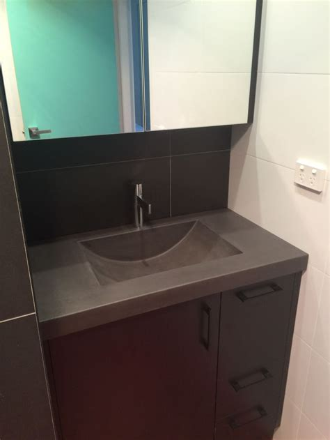 custom vanity top with integrated sink polished concrete vanity top with integrated sink by