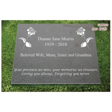 granite memorial plaque gmp001 free engraving
