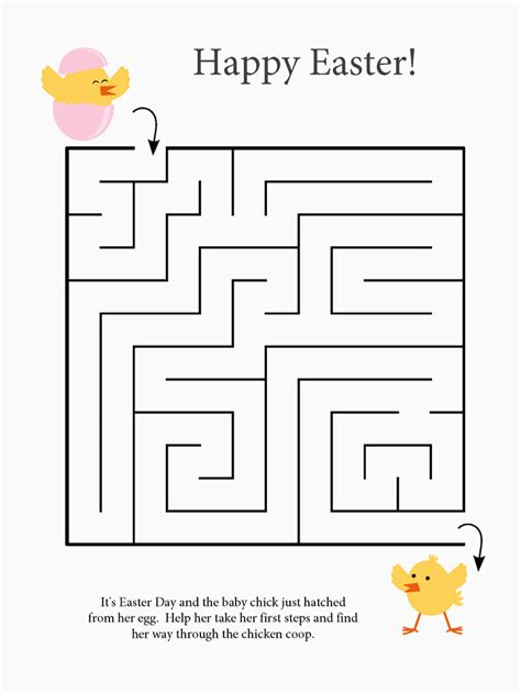 easter mazes  coloring pages  kids